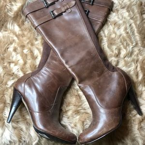 Cole Haan | Nike Tech | Knee high brown boots
